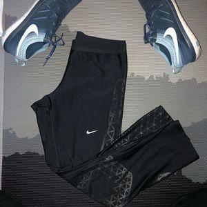 Nike Speed Spider Web Compression Crop Black Med